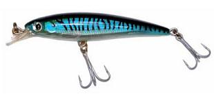 Minnow XSERIES 100 mm con Ami Striato Blu Affondante