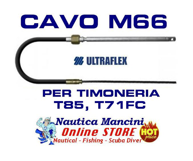 Monocavo ULTRAFLEX mod.M66 da 8 ft / 2.44 mt