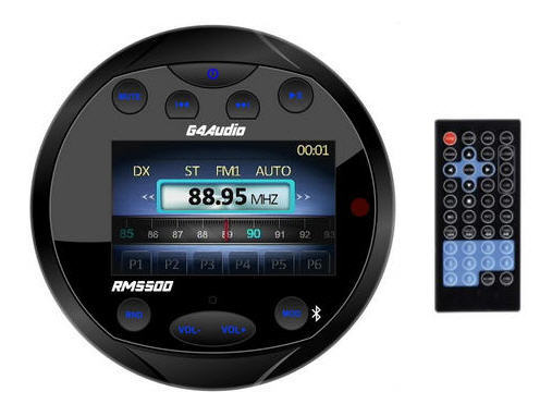 Radio FM/Bluetooth/USB/Mp3 G4-RM5500 per uso nautico 4x40w