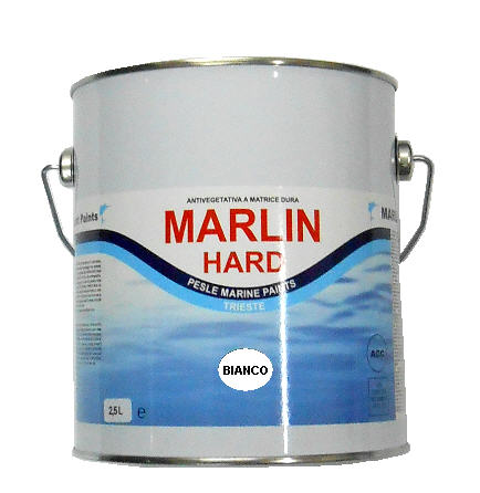Vernice Antivegetativa Matrice Dura MARLIN HARD - Bianco 2,5 LT