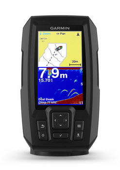 "ECO-GPS integrato GARMIN STRIKER 4 PLUS Fishfinder 4.3"" con TRASDUTTORE CHIRP"