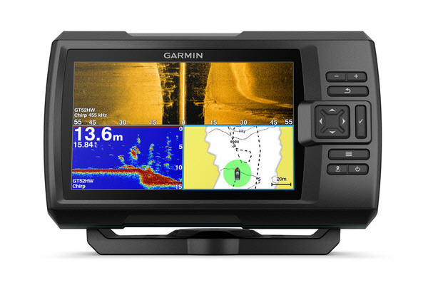 "ECO-GPS integrato GARMIN STRIKER 7SV PLUS Fishfinder 7"" con TRASDUTTORE CHIRP, ClearVü e S"